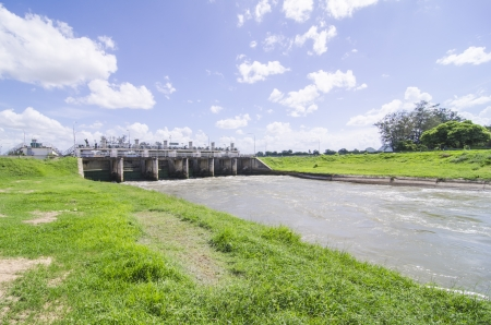 a small dam in thailand,  The dam is situated on the Mae Klong River photo