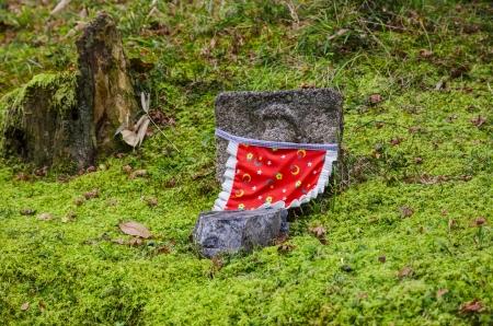 small buddha japanese style in kyoto, japan photo