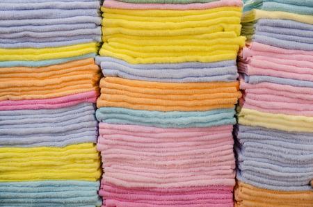 domestic task: Colorful bath towel.