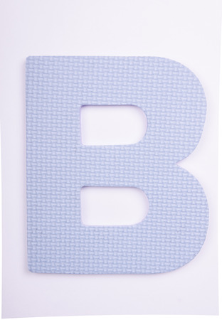 alphabet  B made from foam on white background