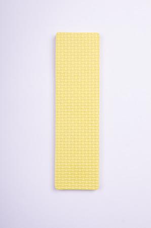 alphabet I made from foam on white isolated Stock Photo