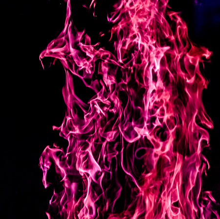 fire flames in the night.