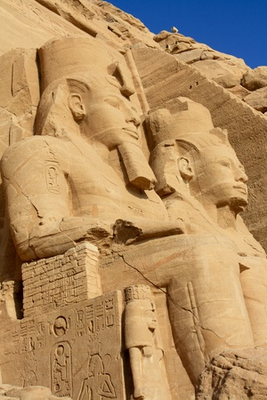 relocated: Abu Simbel Temple in Egypt