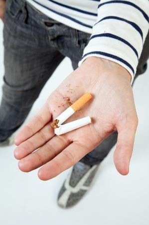renounce: Quit the habit! Stock Photo