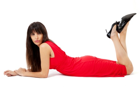 Sexy woman in red