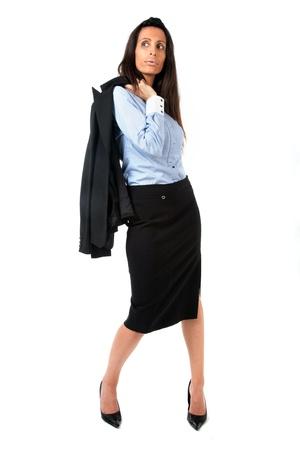 suit skirt: Fashion businesswoman