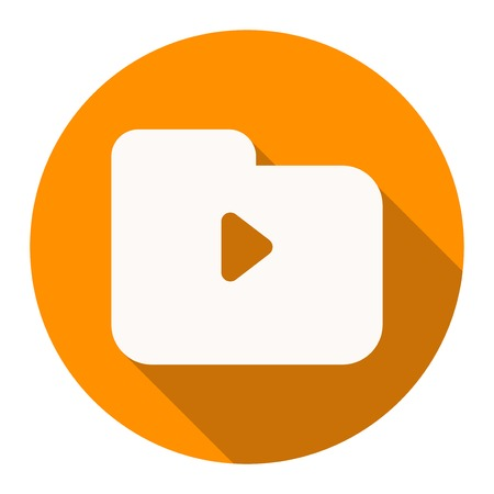 perfect icon or logo for multimedia, player, app Stock Photo