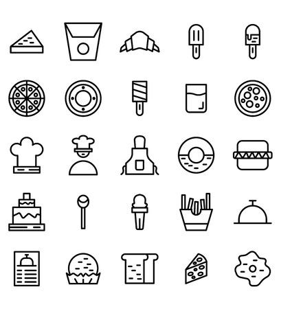 Icono de vector de línea de alimentos o ilustración. Trazo y color editables.