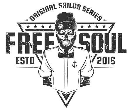 soul: Free soul sailor style design of print for T-Shirts