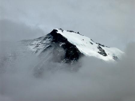 登山ダウンからトレス デル パイネ国立公園、パタゴニア、チリからの眺め 写真素材