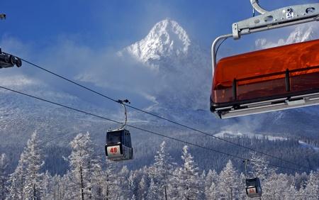 Ski Scene in Slovakia Stock fotó