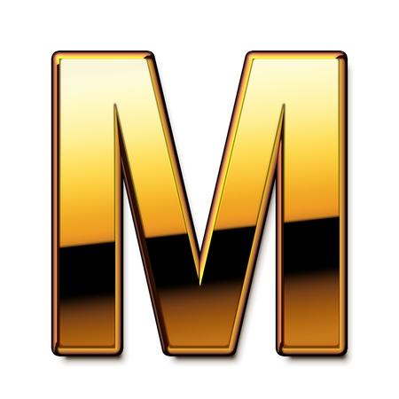 letras de oro: Oro letra M aislado