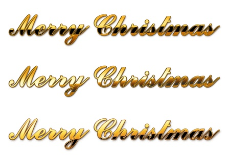 gold text merry christmas separated Stock Photo - 21651844
