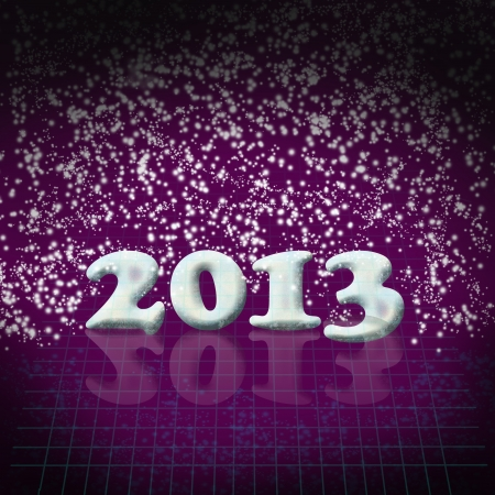 New Year 2013 background with dark purple colors photo