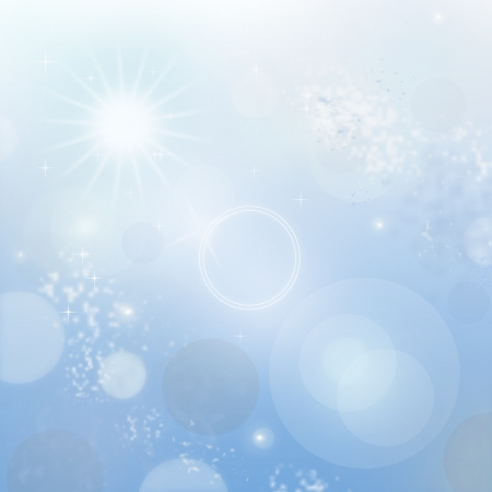 Light blue abstract new year background with white snowflakes photo