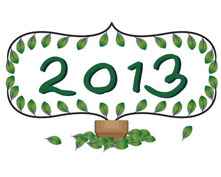Welcome 2013 card Vector