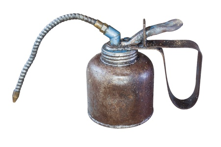 oilcan: The isolate of oil can. Stock Photo