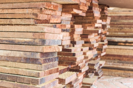 The stack of log preparing for construction