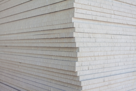 plasterboard: The stack of gypsum board preparing for construction