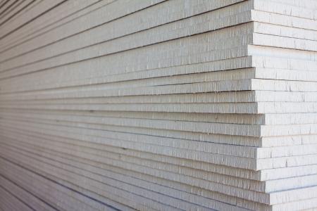 apilar: La pila de placas de yeso para la preparación de la construcción