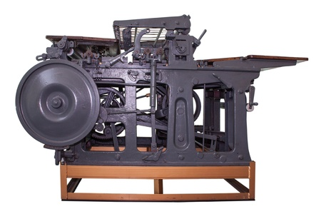 The unuse old  press machine