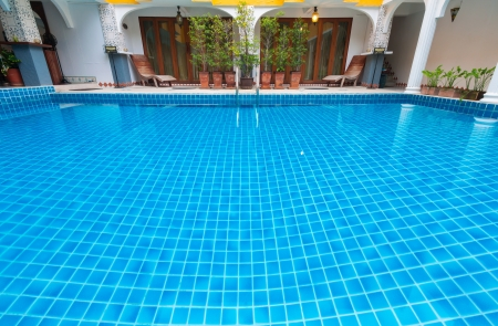 The swimming pool in the hotel for guest