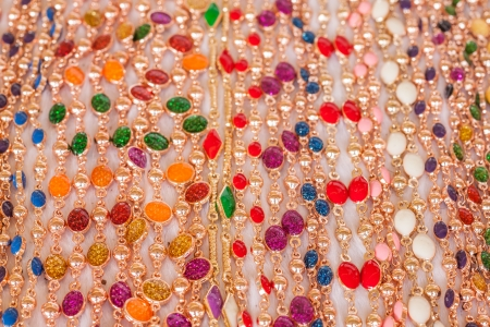 Colourful bead necklace with shinny vivid color Stock Photo - 24094795