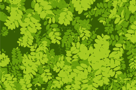 Pattern of green leaf background-tracing vector