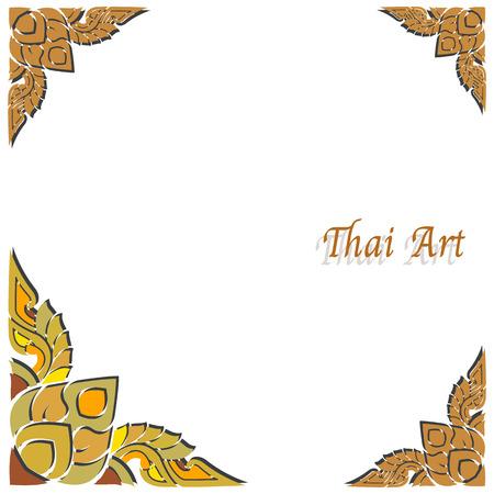 art frame: Vector Thai art frame on white background