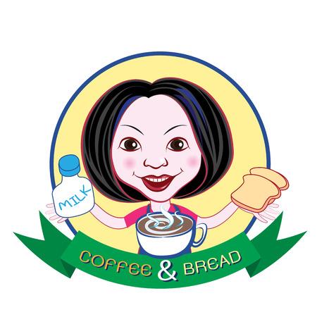 lovely girl: Branding e imagen para la cafeter�a con la muchacha encantadora