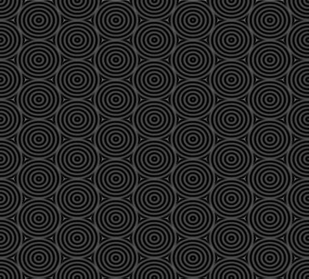 overlap: Seamless pattern of overlap black circles background