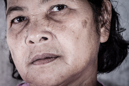 Close up portrait of 60 years old Thai woman