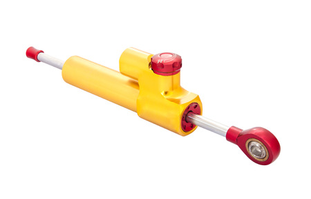 damping: Steering damper or steering stabilizer isolated on white