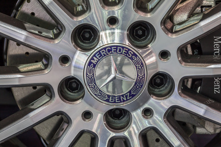 mag: NONTABURI, THAILAND - 4 DEC : The Mercedes Benzs mag wheel showed in 31th Thailand International Motor Expo on 4 December 2014