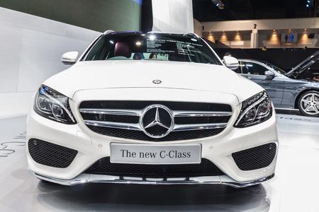 nontaburi: NONTABURI, THAILAND - 4 DEC : The Mercedes Benz new C-Class , C300 BlueTEC Hybrid Estate AMG Dynamic, showed in 31th Thailand International Motor Expo on 4 December 2014