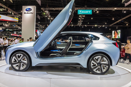 """nontaburi: NONTABURI, THAILAND - 2 DEC : Subaru Viziv , a name somehow derived from """"Vision for Innovation"""" , showed in 31th Thailand International Motor Expo on 2 December 2014"""