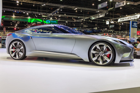 genesis: NONTABURI, THAILAND - 4 DEC : Hyundai Genesis Coupe, HND-9 Venace Concept ,calling it a luxury sports coupe concept , showed in 31th Thailand International Motor Expo on 4 December 2014 Editorial