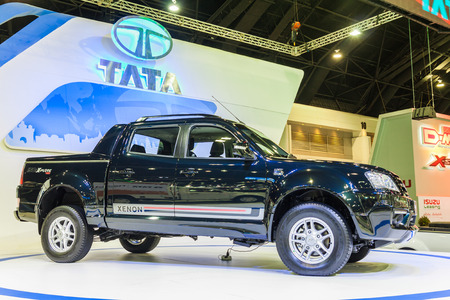 4wd: NONTABURI, THAILAND - 4 DEC : Tata Xenon 150N-Xplore 4WD on display, showed in 31th Thailand International Motor Expo on 4 December 2014