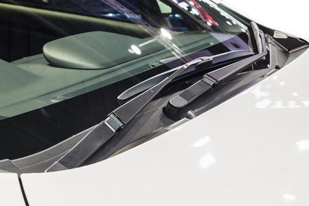 Cars windshield rain wiper