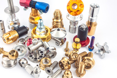 spare part: Set of bolt and nut,spare part for decoration and maintenance Stock Photo
