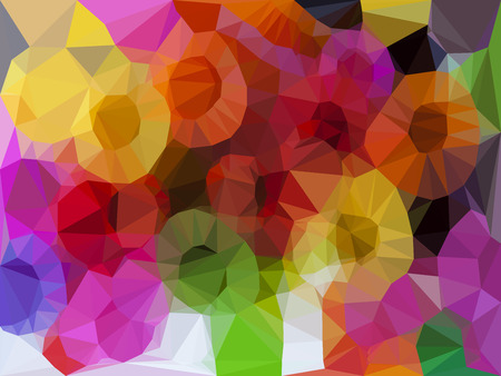 canlı renkli: Vivid color polygonal background, Vector illustration triangular style