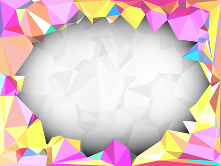 canlı renkli: Vivid color polygonal background with space for adding text, Vector illustration triangular style