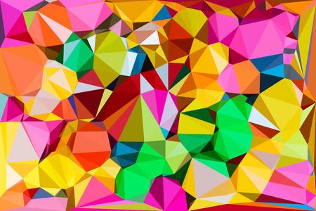 canlı renkli: Canlı renk çokgen arka plan, Vector illustration üçgen tarzı