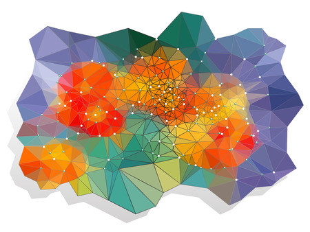 vivid color: Abstract vivid color polygonal background, Vector illustration triangular style Illustration