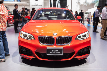 Nonthaburi,Thailand - March 26th, 2015: BMW 220i Coupe on display,showed in Thailand the 36th Bangkok International Motor Show on 26 March 2015