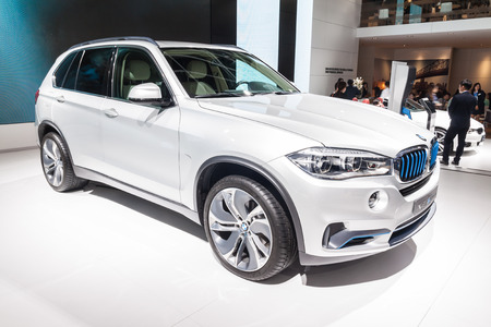 Nonthaburi,Thailand - March 26th, 2015: BMW X5 eDrive on display ,showed in Thailand the 36th Bangkok International Motor Show on 26 March 2015
