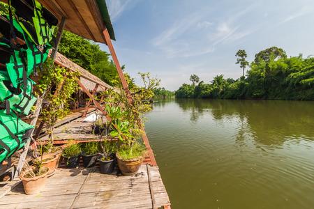 raft: Raft resort at Kwai noi river