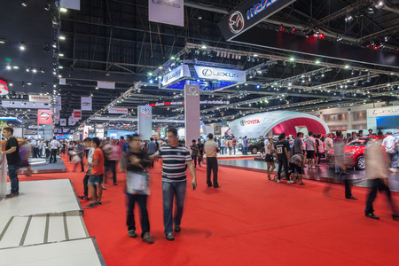Nonthaburi,Thailand - March 26th, 2015: Wide angle of event in Thailand the 36th Bangkok International Motor Show on 26 March 2015
