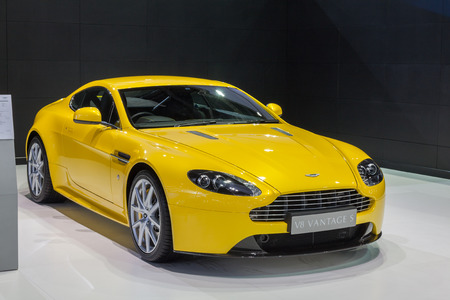 Nonthaburi,Thailand - March 26th, Aston Martin V8 Vantage S on display,showed in Thailand the 36th Bangkok International Motor Show on 26 March 2015