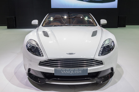 Nonthaburi,Thailand - March 26th, Aston Martin Vanquish on display,showed in Thailand the 36th Bangkok International Motor Show on 26 March 2015